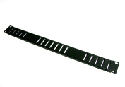 1U Vented Black Single Space Heavy Duty Flanged Blank Rack Case Panel 48cm