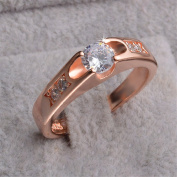 Skyllc Best Promise Rings for Her Anniversary Cocktail Arrow Rose Gold Plated Wedding Rings
