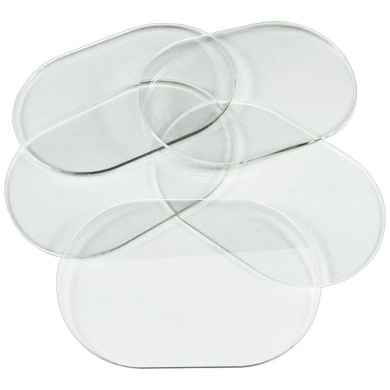Clear Miniature Bases, Pill 51x77mm, 1.5mm Clear (5)