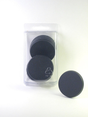 Value Pack of 10 - 50MM Round Black Miniature Model Bases for TableTop or Miniature WarGames