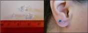 Clear Plastic Ear Piercing Retainers - 10 Pairs