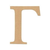 "15cm LETTER ""GAMMA"" GREEK FONT Unfinished Wood/Wooden Letter DIY Home, COLLEGE, SOROITY AND FRATERNITY Decor USA Made"