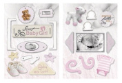 Paper House Productions DCCB-0004E Chipboard Accents Non-Adhesive Dimensional Embellishments, Baby Girl