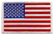USA US American Flag Logo Embroidered Patch Sew on Iron On Applique 8.6cm x 5.3cm