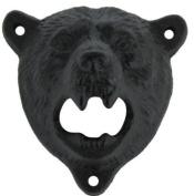 Wish Dayz Cast Iron Wall Mount Grizzly Bear Teeth Bite Bottle Opener