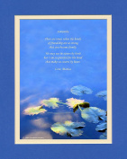 "Personalised Friend Gift with ""Bonds of Friendship Makes Us Sisters By Heart"" Poem. Water Lily Leaves Photo, 8x10 Double Matted. Special Birthday or Christmas Gifts for Best Friend."