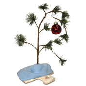 ProductWorks 60cm Musical Peanuts Charlie Brown Christmas Tree with Linus Blanket