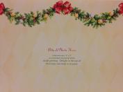 (20) Mara-Mi Garland Christmas Photo Cards - 20 Blank Photo Cards and Coordinating Envelopes