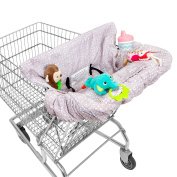 Waterproof 2-in-1 Shopping Cart Cover & High Chair Cover for Baby & Toddler with Safety Harness