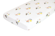Nursery Works Organic Cotton Percale Sheet, Forest Animals, Menagerie