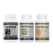 FertilAid for Men, MotilityBoost, Countboost Bundle