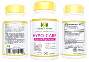 Hypo-Care, All-Natural Thyroid Support Supplement, Promotes Overall Thyroid Health, Supports Healthy Hormone Production, 500 Mg, 60 Capsules, Nature's Health