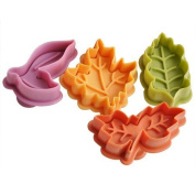 Joinor Cake Leaves Baking Pie Crust Cutters Set of 4 Random Colour
