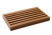 Juvale Bamboo Bread Cutting Board with Crumb Catcher