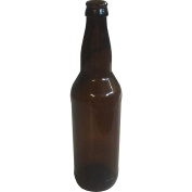 650ml Crown Cap Amber Longneck Bottles, Case of 12 by Home Brew Ohio