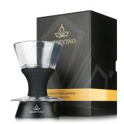Redevino wine aerator decanter unique design with hands free stand for wine glasses rim