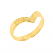 Solid 10k Yellow Gold Fine Band Egyptian Thumb Ring