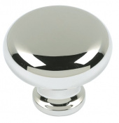 Atlas Homewares A819-PN 3.2cm Euro-Tech Collection Round Knob, Polished Nickel