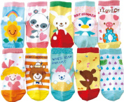 Bienvenu Baby 10 Pack Cotton Non-skid Cosy Socks