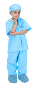 Child Blue Jr. Doctor Costume Scrubs with Cap - Toddler