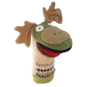 Cate and Levi 30cm Handmade Mighty Moose Hand Puppet (Premium Reclaimed Wool), Colours Will Vary