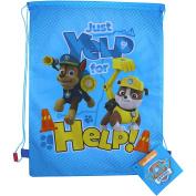 PAW Patrol Blue Yelp for Help Drawstring School Sports Gym & Swimming Bag