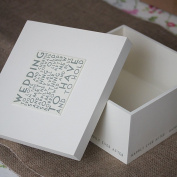 East of India Wedding Square Keepsake Box by East of India