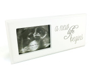 Baby Scan Photo Frame Plaque Gift With Sentimental New Life Verse