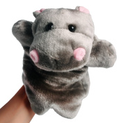 Andux Zone Lovely Animal Hand Puppet, 3 Style to Choose - Hippo, Panda or Squirrel