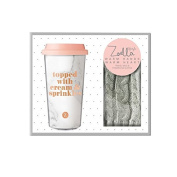 Zoella Travel Mug & Gloves Set Warm Hands, Warm Heart Gift Set