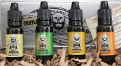 Beard Oil Giftpack. Set of 4 x Leave-In Premium natutral Conditioner In Sweet Orange, Eucalyptus, Lemongrass and Original lo-scent from The Beard and The Wonderful