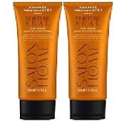(2 PACK) Charles Worthington Moisture Seal Hair Healer LEAVE IN Conditioner x 200ml