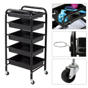 AllRight Salon Trolley Hairdresser Barber Beauty Spa Storage Hair 5 Drawers Rolling Storage Cart