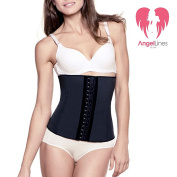 Angel Lines Waist Trainer Cincher Belly Vest - Reduce your size instantly - Black-M