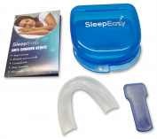 Anti Snoring Device - Premium Snore Stopper designed to Stop Snoring and Teeth Grinding! Easy customization to fit your mouth comfortably. Sleep Eazy Stop Snoring aids the prevention of Teeth Grinding, Bruxism, TMJ / TMD.