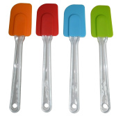 Vicloon Kitchen Silicone Spatulas Set of 4,Colourful Cake Cream Butter Spatula,Cooking Gadget and Baking Tool