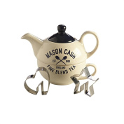 Mason Cash Varsity Tea for One Set with 2 Stainless Steel Cookie Cutters
