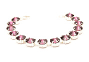 End of line clearance. 21cm Silver plated bracelet made with Amethyst crystal from ®.