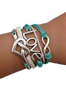 Eternity Bracelet With Blue and White Love Infinity Love Karma Jirong Unendlich