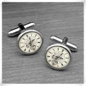 Vintage Steampunk Clock Cufflinks