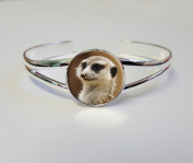 Meerkat On A Silver Plated Bracelet Bangle Costume Jewellery Ideal Ladies Birthday Gift L49