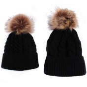 Kingko® Parent-child Mom and Baby Family Twist Knitting Keep Warm Hat Head Cap
