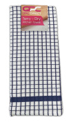 QPC Direct Luxury Absorbant 100% Cotton Traditional Poli Cheque Kitchen Tea Towel, 4 PACK
