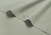 Luxury Soft Plain Dyed 100% Cotton T200 Thread Count Percale Flat Sheet Bed Linen Sheets - King - Duck Egg