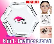 6 in 1 EYELINER Stencil Set Makeup Guide Quick Cat Eye Liner kit Tool Liquid UK