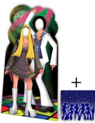 Disco Couple Stand In - Stand In Lifesize Cardboard Cutout / Standee / Standup - Includes 8x10 (20x25cm) Star Photo