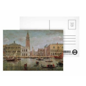 View of Venice, 1719 (oil on canvas) by.. - Postcard (Pack of 8) - 15cm x 10cm - Art247 Highest Quality - Standard Size - Pack Of 8
