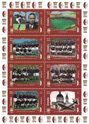 Italian football stamps - Italian football teams throughout history - 8 stamps. Mint and never mounted stamp sheet