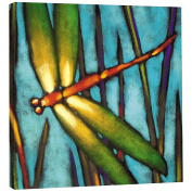 Tree Free Beautiful Dragonfly Eco Art Plaque, Metal, Multi-Colour