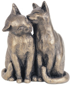 YUM YUM & FRIEND Bronzed Cats Sculpture by Paul Jenkins by Frith Sculpture - Naturally. Cats Sculpture.